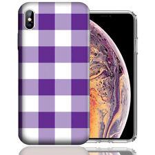 MUNDAZE Apple iPhone XR Design Case - Purple White Plaid Cover