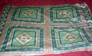 Floral Pillow Quilt Squares Country Colors  -  Vintage design