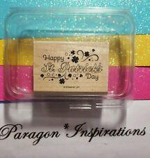 HTF Stampin Up HAPPY SAINT PATRICK'S DAY Stamp St. March 17 Whimsical Shamrocks