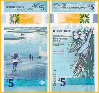Northern Ireland 5 Pounds p-new 2018(2019) Ulster Bank UNC Polymer Banknote