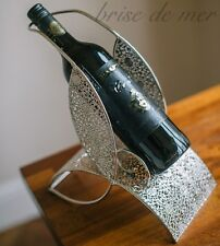 Singola bottiglia di vino titolare Cucina Mensola rack chrome catena metallo matrimonio regalo