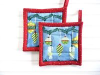 Christmas Potholders, Christmas Kitchen Linens, Baking Accessories, Hostess Gift