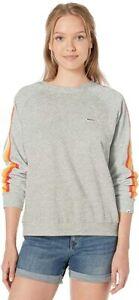 Rip Curl Junior's Summer Lovin Soft Crew Sweatshirt, Heather Grey, L
