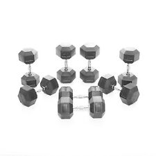 Body Power 22.5-30Kg Rubber Hex Dumbbell Set