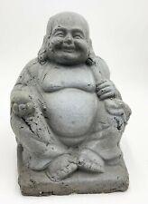 Keramik Budda sitzend Mönch Wohnaccessoire Deko Figur Haus Garten Skulptur