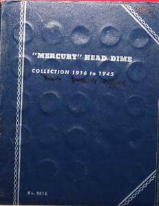 """Mercury"" Head Silver Dime Book (Book is ripped)"