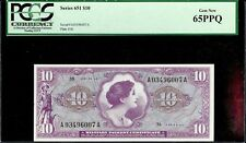US Military Payment Certificate Series 651 $10 PCGS 65PPQ Gem New