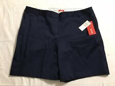 Izod Shorts Women's Size 12 Navy Blue Cotton Stretch Casual NWT