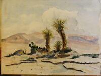 David Bendann's Vintage Watercolor Landscape Desert Scene Painting