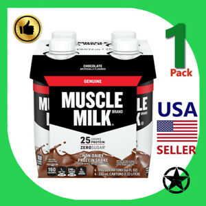 1 Pack Muscle Milk Non Dairy Protein Shake Chocolate 11 fl oz 4 Count Bottle