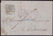 STATO PONTIFICIO 1867 - 2 b. n. 3Aa BRACCIANO p. 6 x ROMA SPL € 400