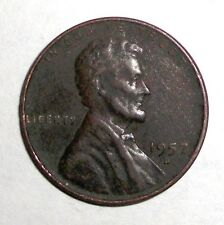 1957-D Us Lincoln Wheat Penny, 1 cent coin