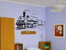Wall Vinyl Sticker Decals Decor Mural Train Locomotive Railroad   #157