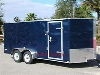 NEW 7x16 7 x 16 V-Nose Enclosed Cargo Trailer w/Ramp