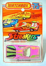 "Matchbox No. 75B Alfa Carabo pink/yellow ""Streaker"" mint/blistered"
