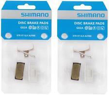 2x Shimano MTB Disc Brake Pads G02A Alloy XTR XT BR-M9000 M985 M785 RESIN G01A