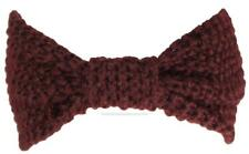 Best Winter Hats Adult Crochet Bow Knot Headband/Ear Warmer #483 Maroon