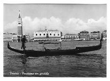 Italy Venezia Venice Panorama Gondola Glossy Vera Foto 4X6 Photo Postcard