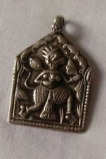 Hindu hanuman monkey god sterling silver pendant indian chain necklace jewelry