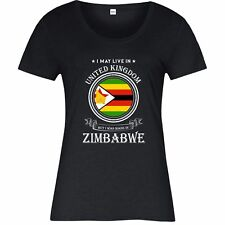 Made In Zimbabwe T-Shirt, Living In United Kingdom Nation Love Ladies Top