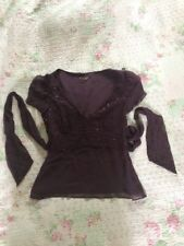 Gorgeous JOHN LEWIS Pure Silk Purple Grape Embelished Top-size 10. Never Worn