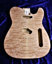 More details for tele custom body, poplar body with quilted maple top! #1182
