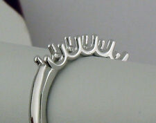 14K White Gold 5 Stone Ring Mounting For 0.20Ct Each Diamond Total 1Carat 1/5 Ca