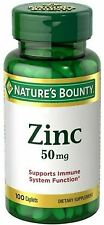 Nature's Bounty Zinc 50 mg Caplets 100 ea (Pack of 5)