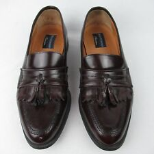Bostonian Florentine 9.5 M Brown Leather Loafer Kiltie Italy
