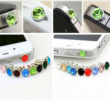 20Pcs Mixed Crystal Rhinestone Dust Earphone Plug Cover Stopper Cell Phone 3.5mm