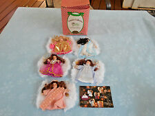 Set Of 5 Heavenly Moments Angel Ornaments Collections Paradise Galleries