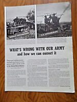 1941 Photo Article Ad WW II  What's Wrong with our Army & how we can Correct It