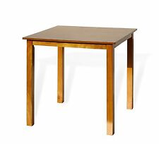 Contemporary Square Dining Kitchen Solid  Wood Table in Maple Finish
