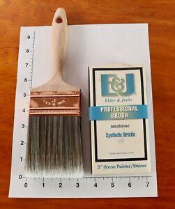 "NOS Elder & Jenks 3"" House Painter/Stainer Professional Brush USA-Made"