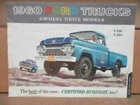 1960 Ford 4x4 Truck Sales Brochure   F100 F250 F350  Light Trucks Original  Rare