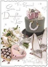 Son And Daughter In Law Wedding Day Card ~ Luxury Larger Card ~Verse~ Made In UK