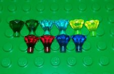 *NEW* Lego Rare Green Blue Yellow Red Gems Diamonds Jewels Minifigs 10 pieces