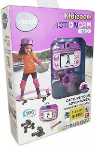 Vtech Kidizoom Childrens Kids Action Cam Camera 180 Video & Photo Purple - New
