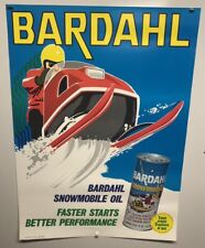 Original vintage Snowmobile Oil Poster Bardahl Race Advertisement