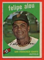 1959 Topps #102 Felipe Alou VG-VGEX+ Rookie RC San Francisco Giants FREE SHIP
