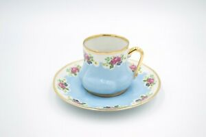 Coffee Cup Set with Elegant Gift Box - Gold Plated Handcrafted Porcelain