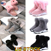 Winter Toddler Infant Kid Warm Snow Boots Boy Girl Cotton Shoes Boots Sneaker US