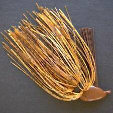 Open Water mini flipping jig. 5/8 oz BROWN PUMPKIN weedless bass fishing jigs