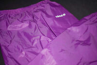 Adidas Regen Hose Wetter Weather Rain Pant Nylon Lila Glanz Shiny Vintage 90er L