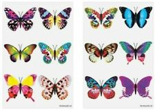 24 x BUTTERFLY Temporary Tattoos Kids Childrens Girls Party Bag Fillers Toy