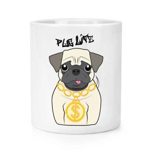 Pug Life Dog Makeup Brush Pencil Pot - Funny Pupp