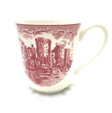 Johnson's Brothers England 1883 Ragland Castle in 1792 Red White Coffee Mug Cup