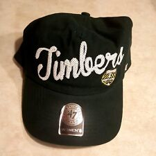 3078bd098c4 Portland Timbers Womens Hat 47 BRAND Cap Sequin Sparkle Logo Green  Adjustable
