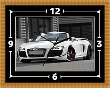Audi R8 Spyder Wall Clock Gift Present Christmas Birthday (Can Be Personalised)