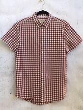 JACK WILLS Fabulously British Men's Check Button Front Shirt Size Medium